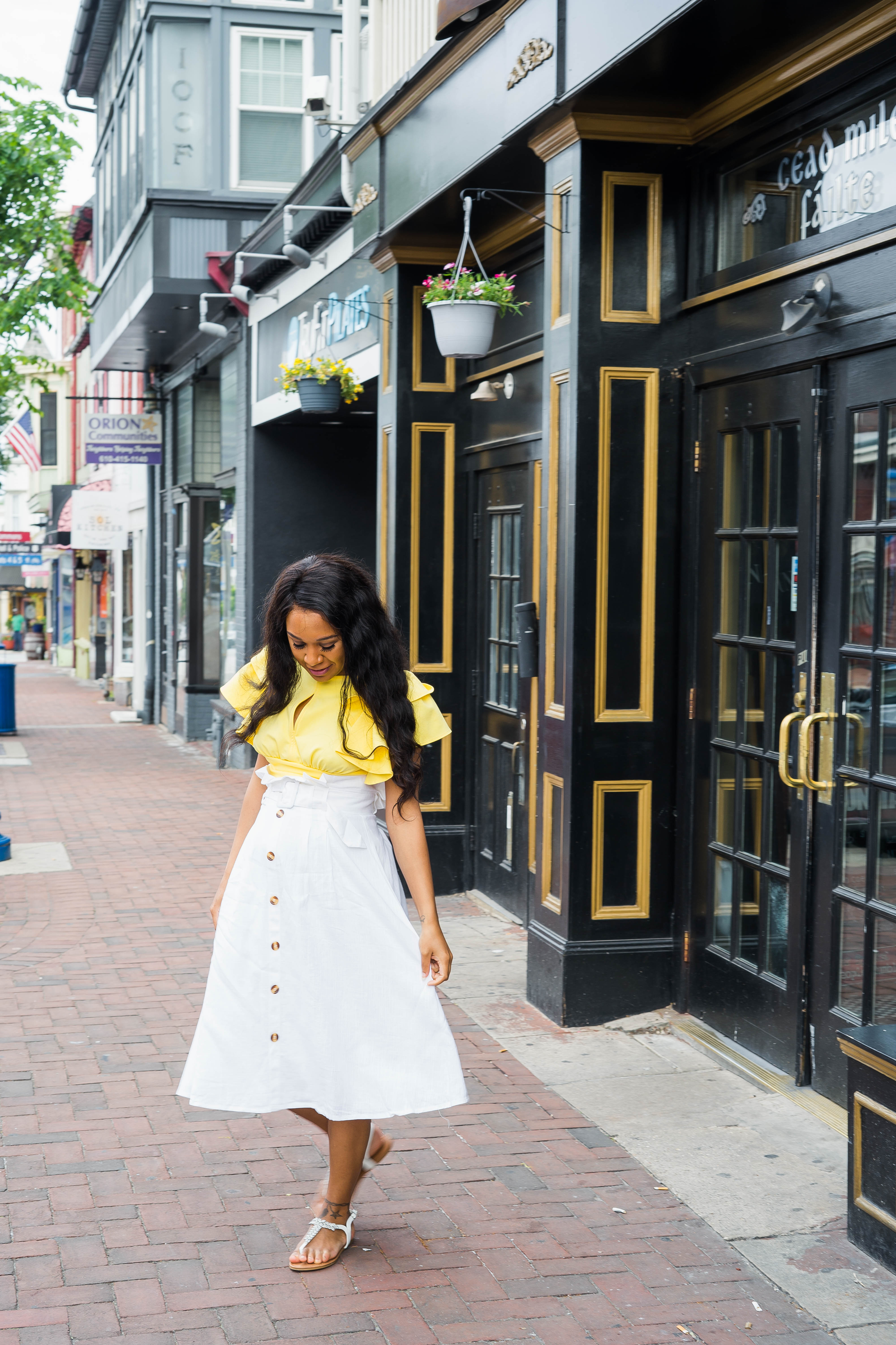 forever 21 yellow crop