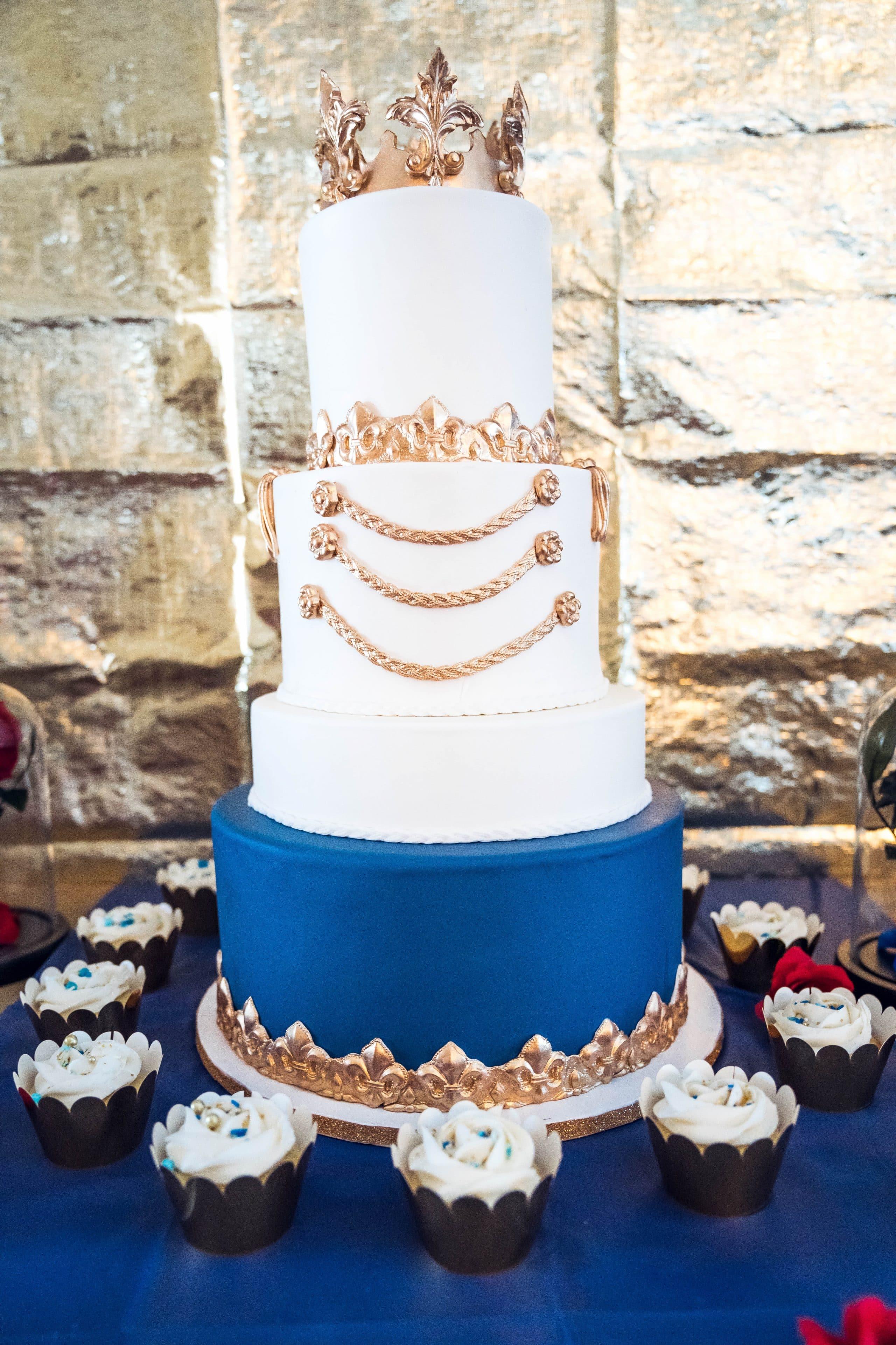 LivingLesh beauty and the beast tier cake