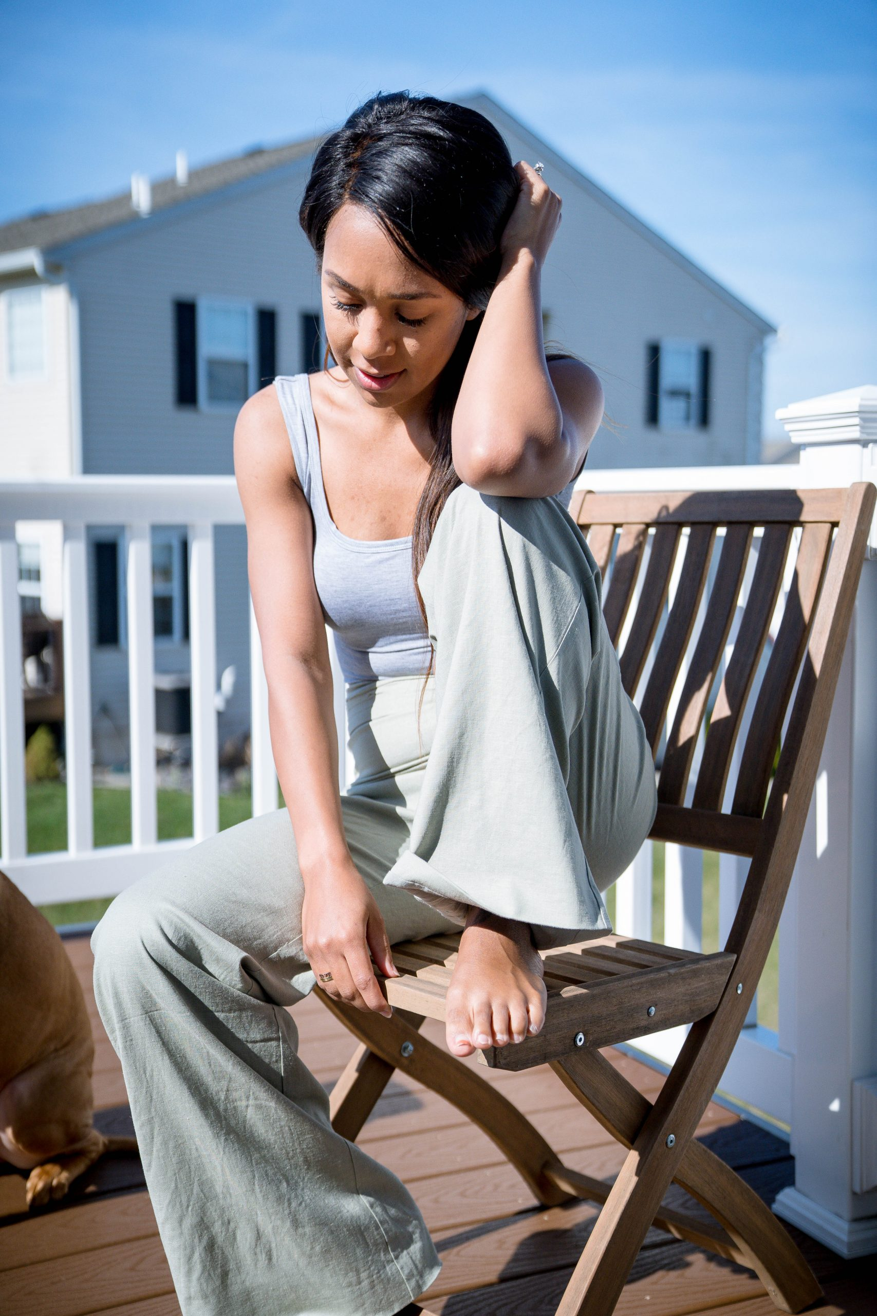Iesha of LivingLesh in dress down workwear