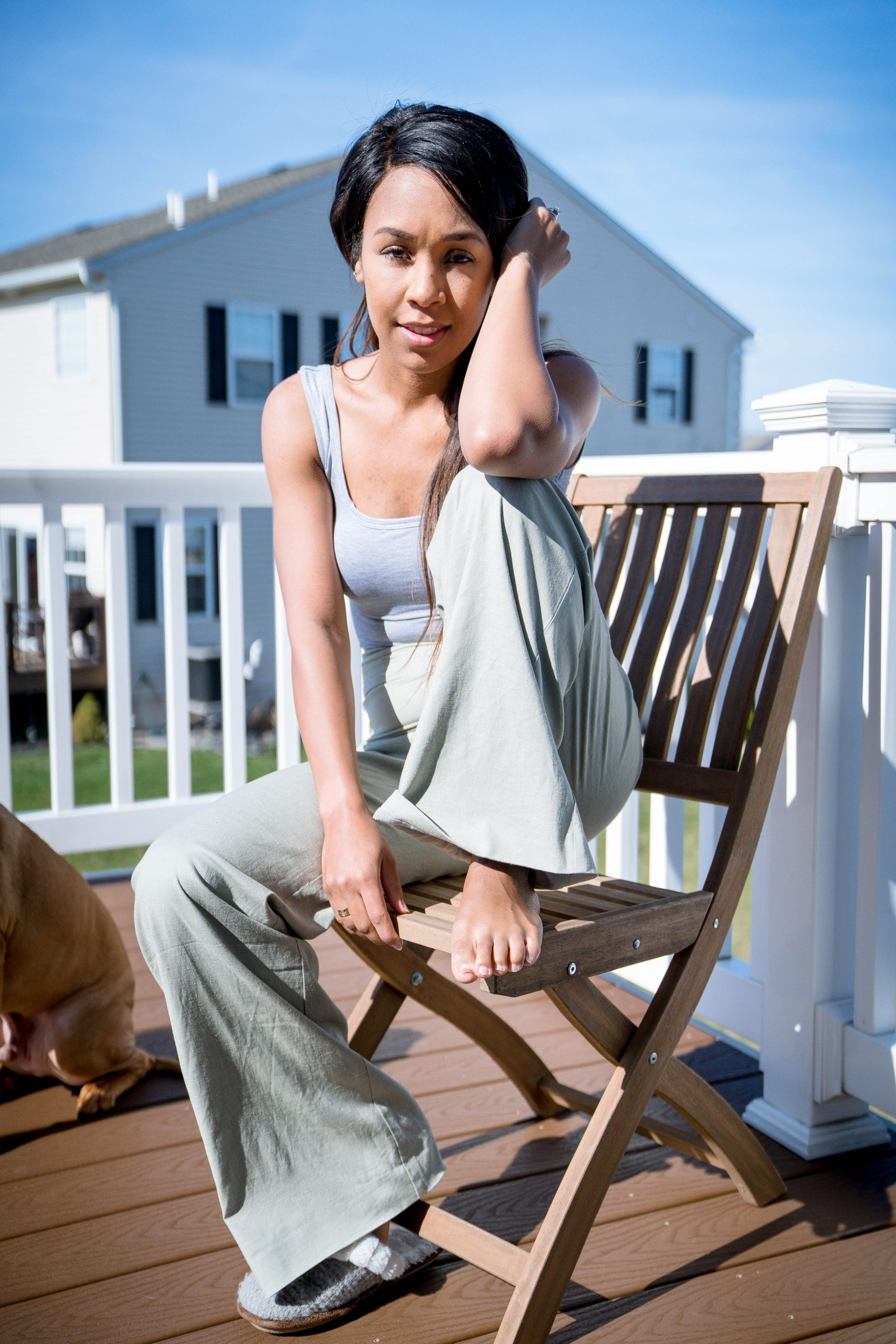 Iesha of LivingLesh in lovers and friends cotton pant