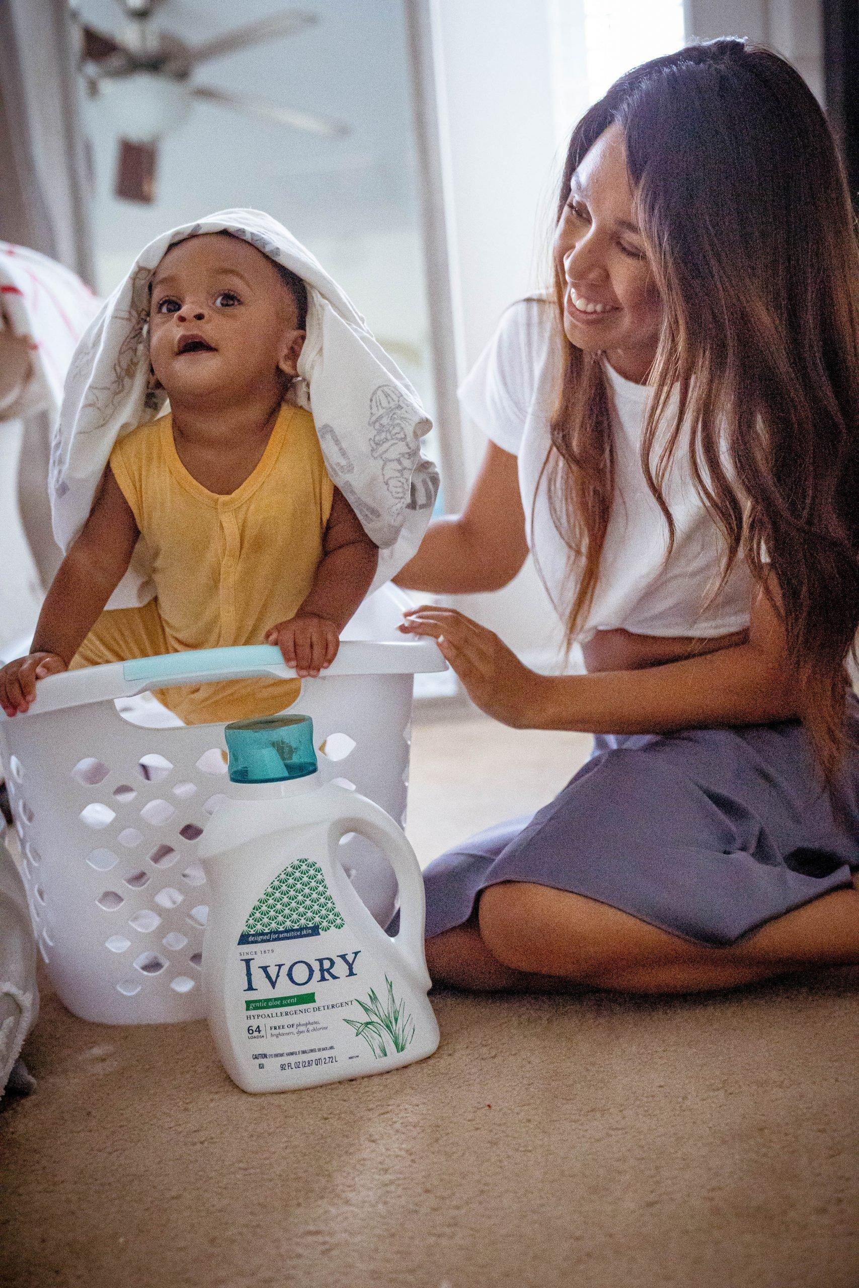 LivingLesh using ivory laundry detergent for sensitive skin