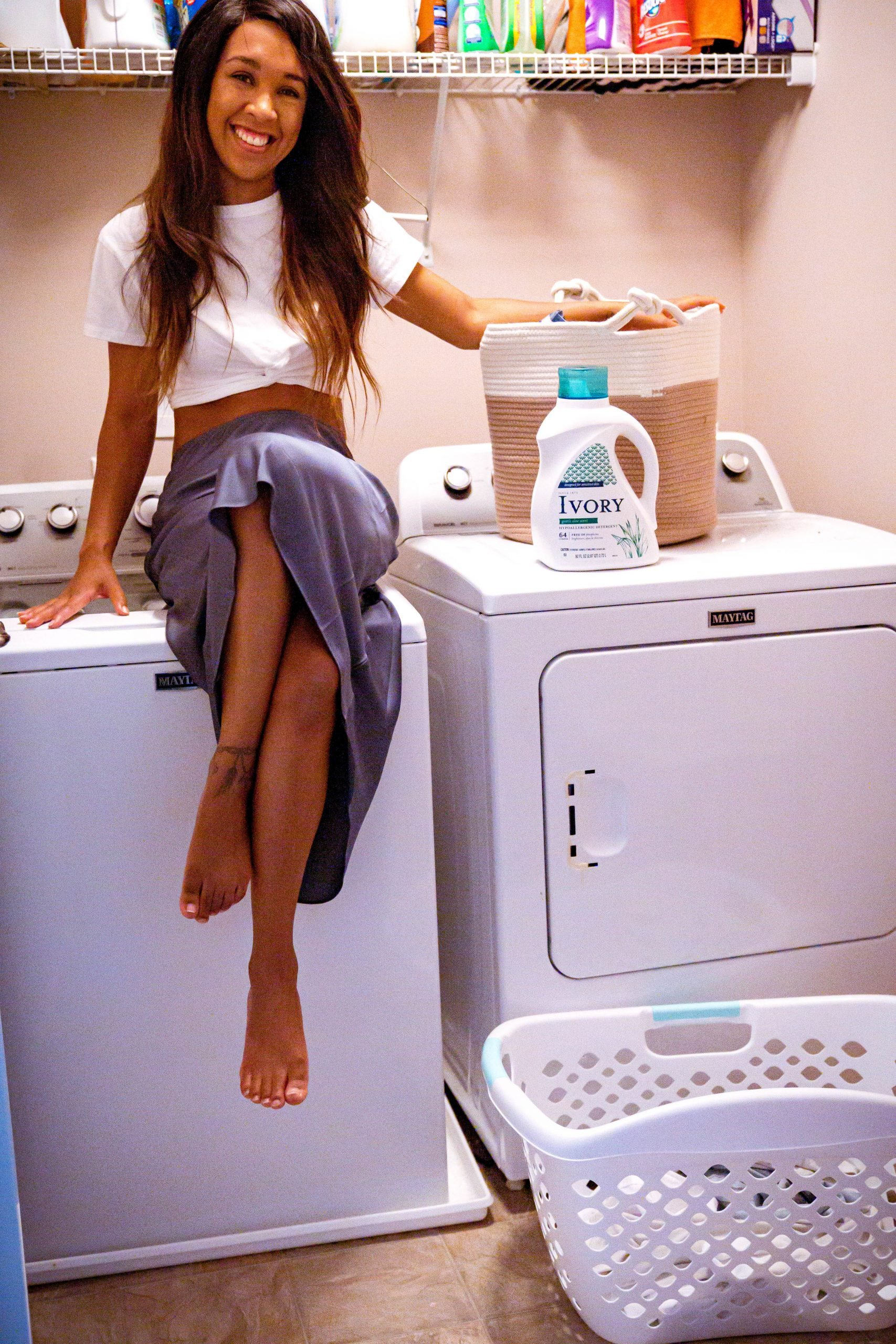 LivingLesh using laundry detergent for sensitive skin
