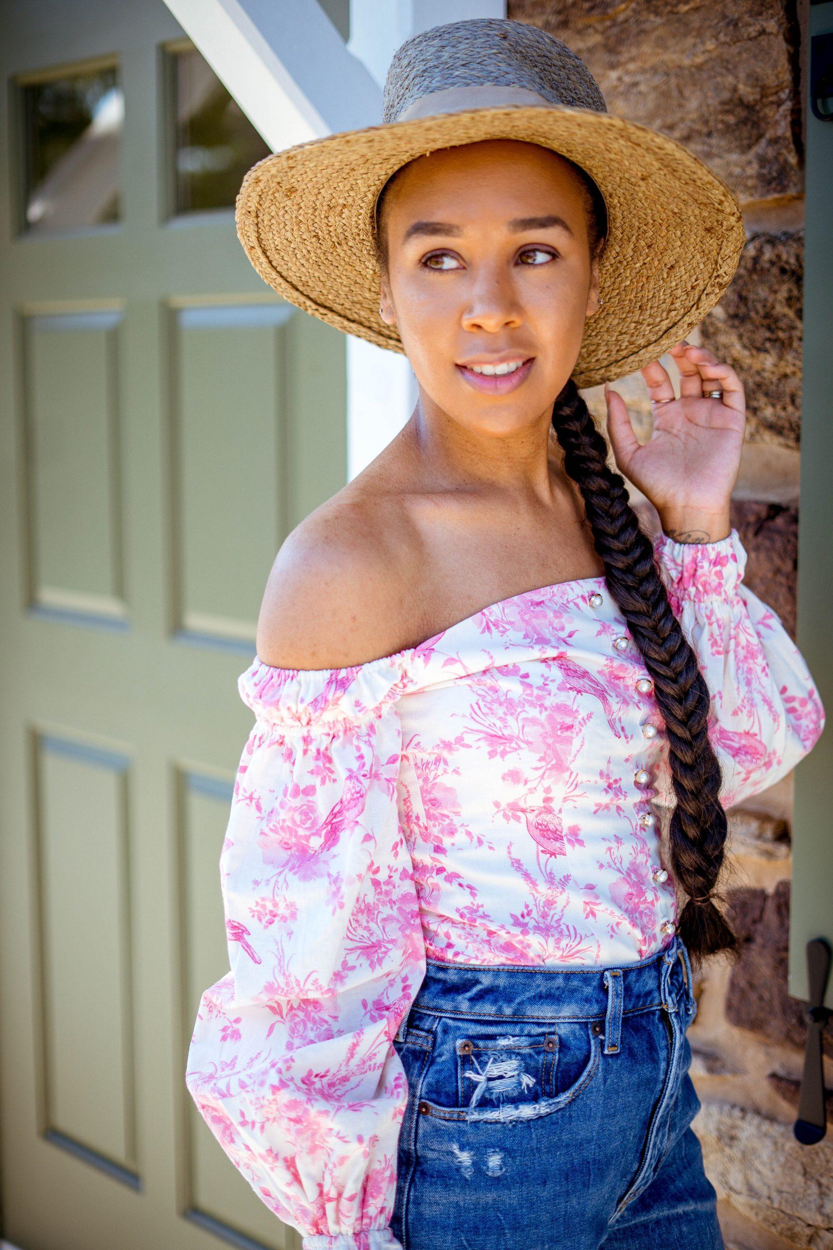 livinglesh wearing revolve majorelle top affordable online fashion boutiques
