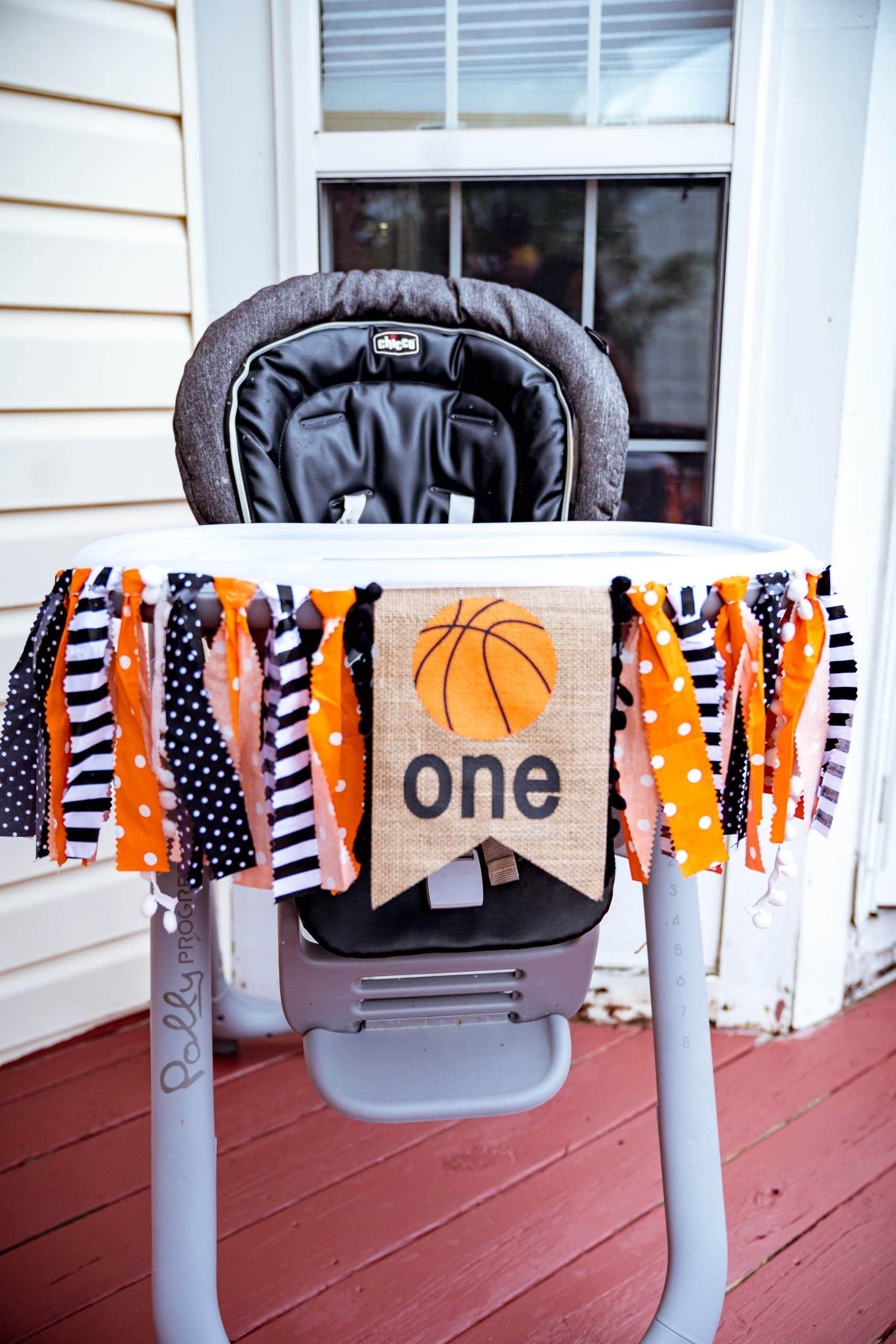 livinglesh basketball birthday party high chair