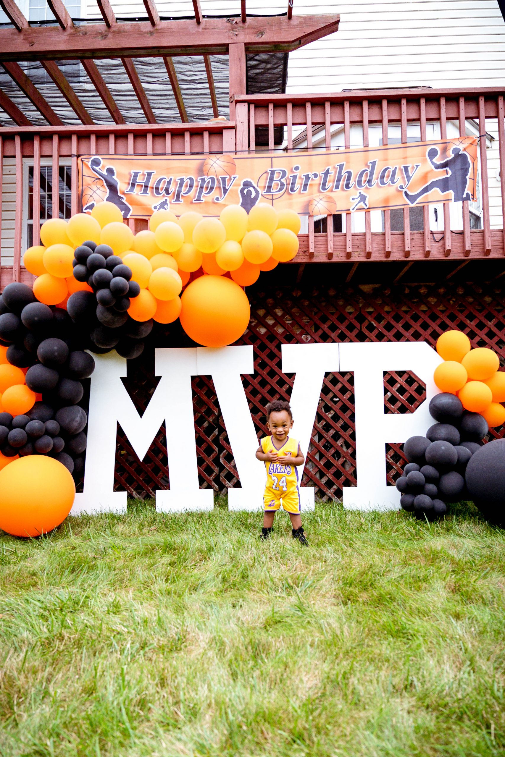 livinglesh birthday party basketball mvp display