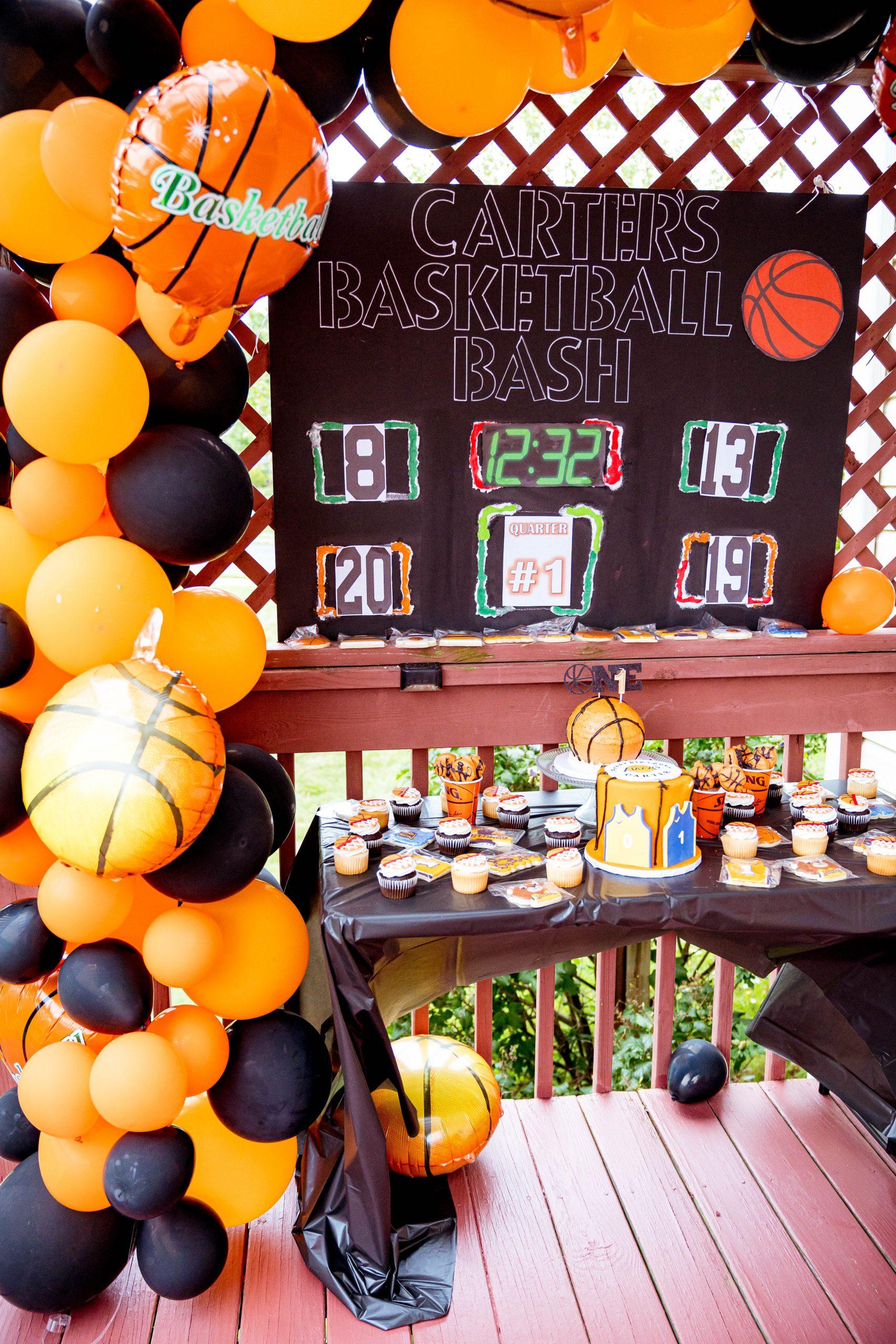livinglesh dessert table for basketball birthday party