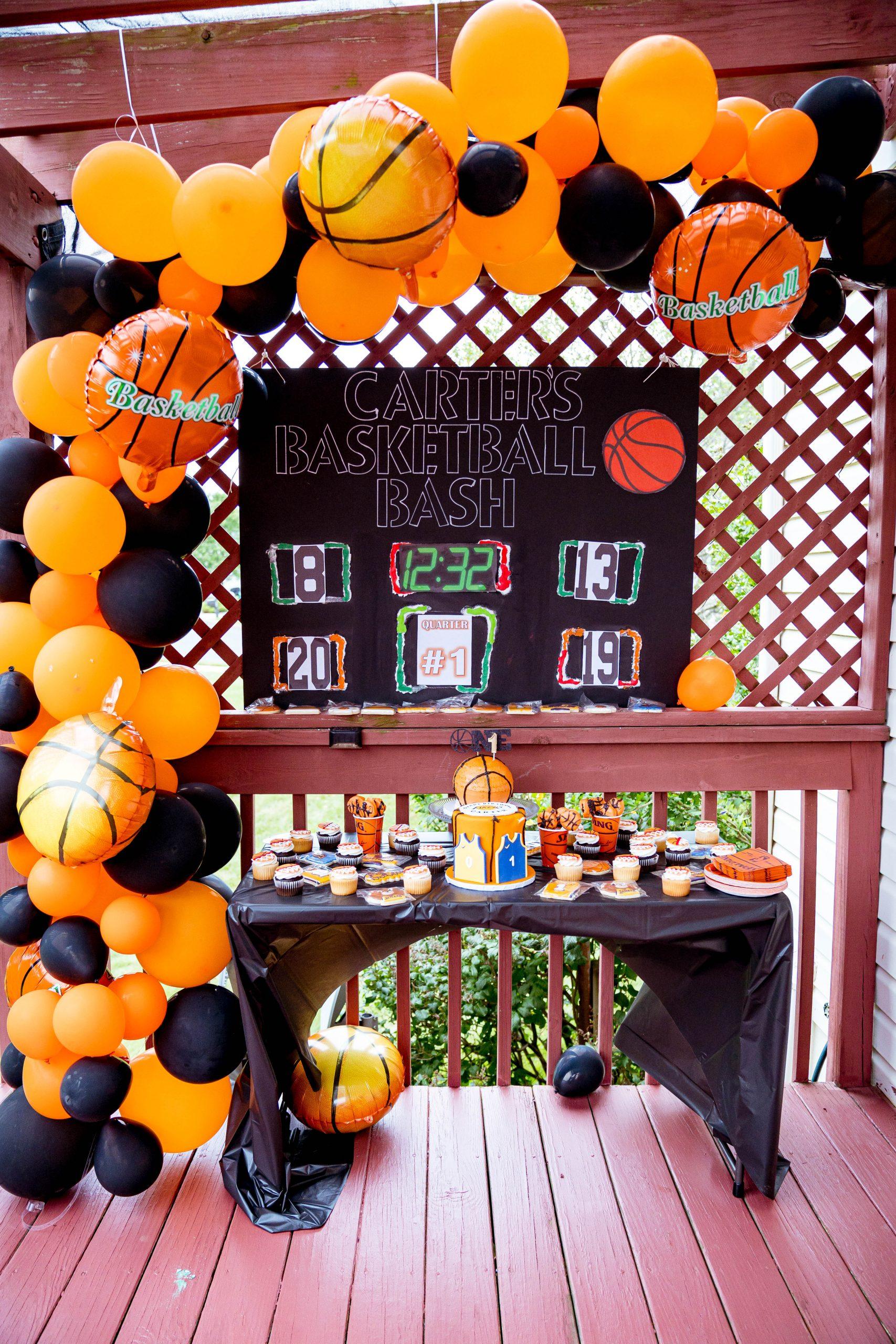 livinglesh dessert table for basketball party