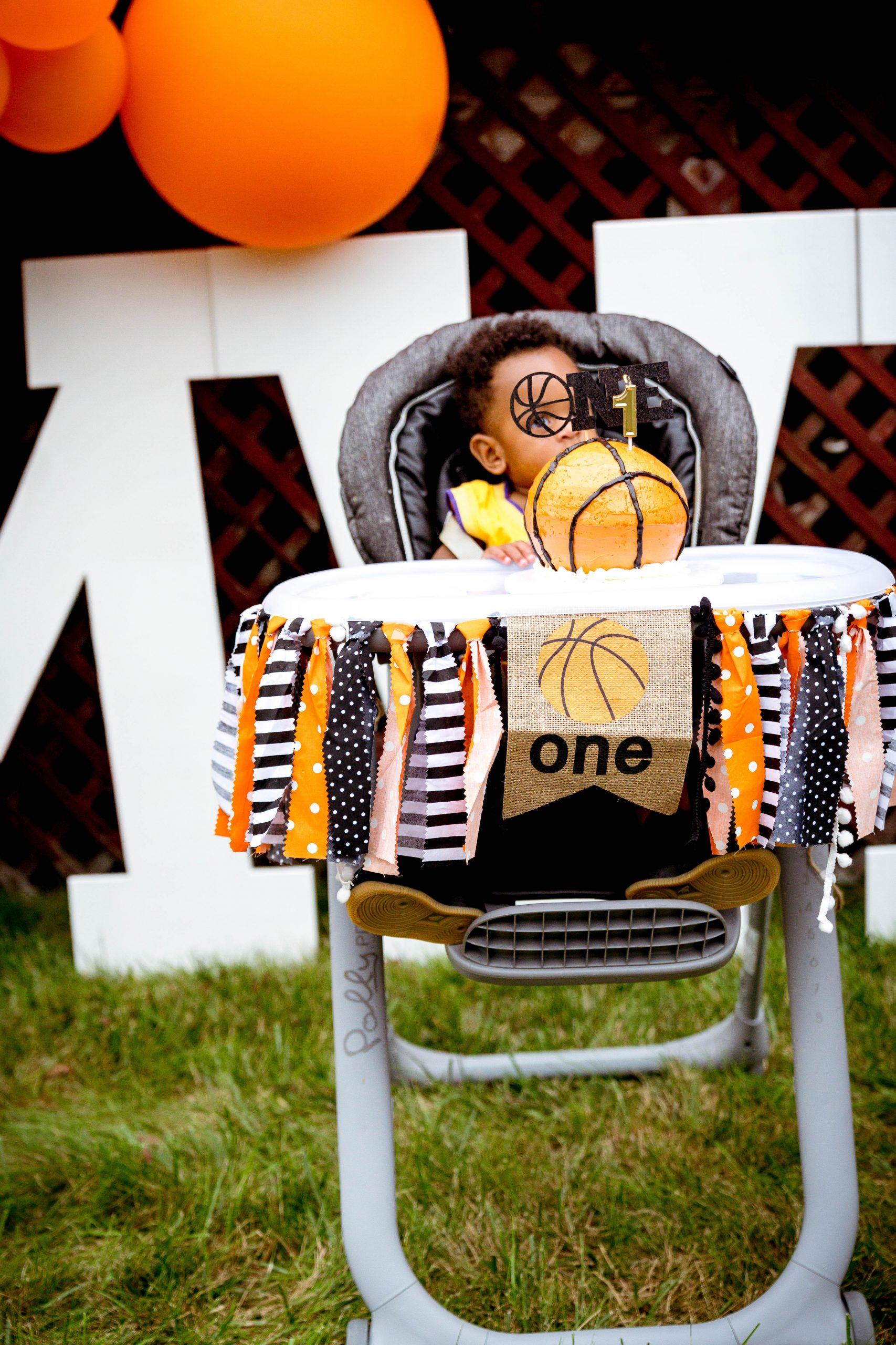 livinglesh first birthday basketball bash