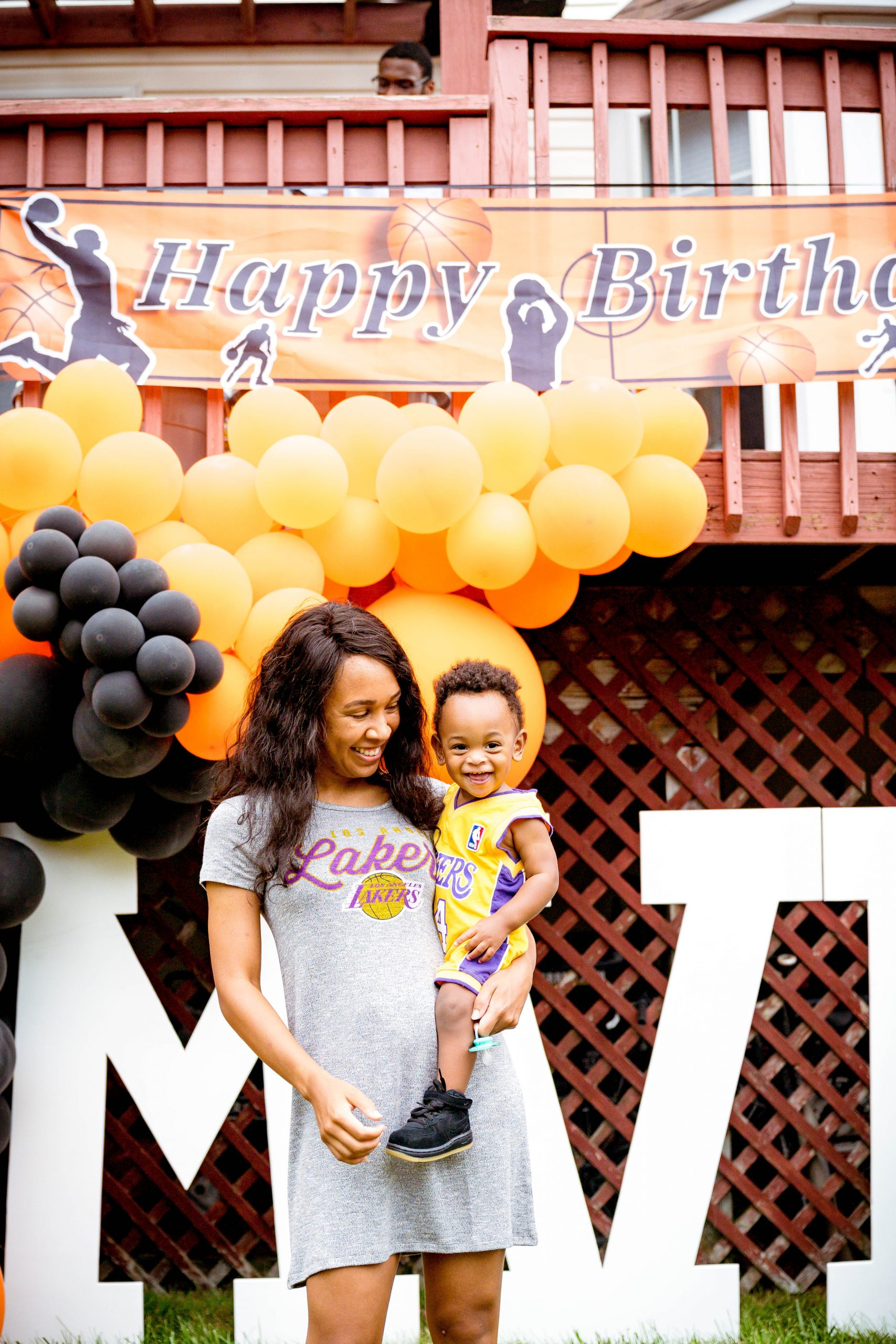 livinglesh first birthday mom and son