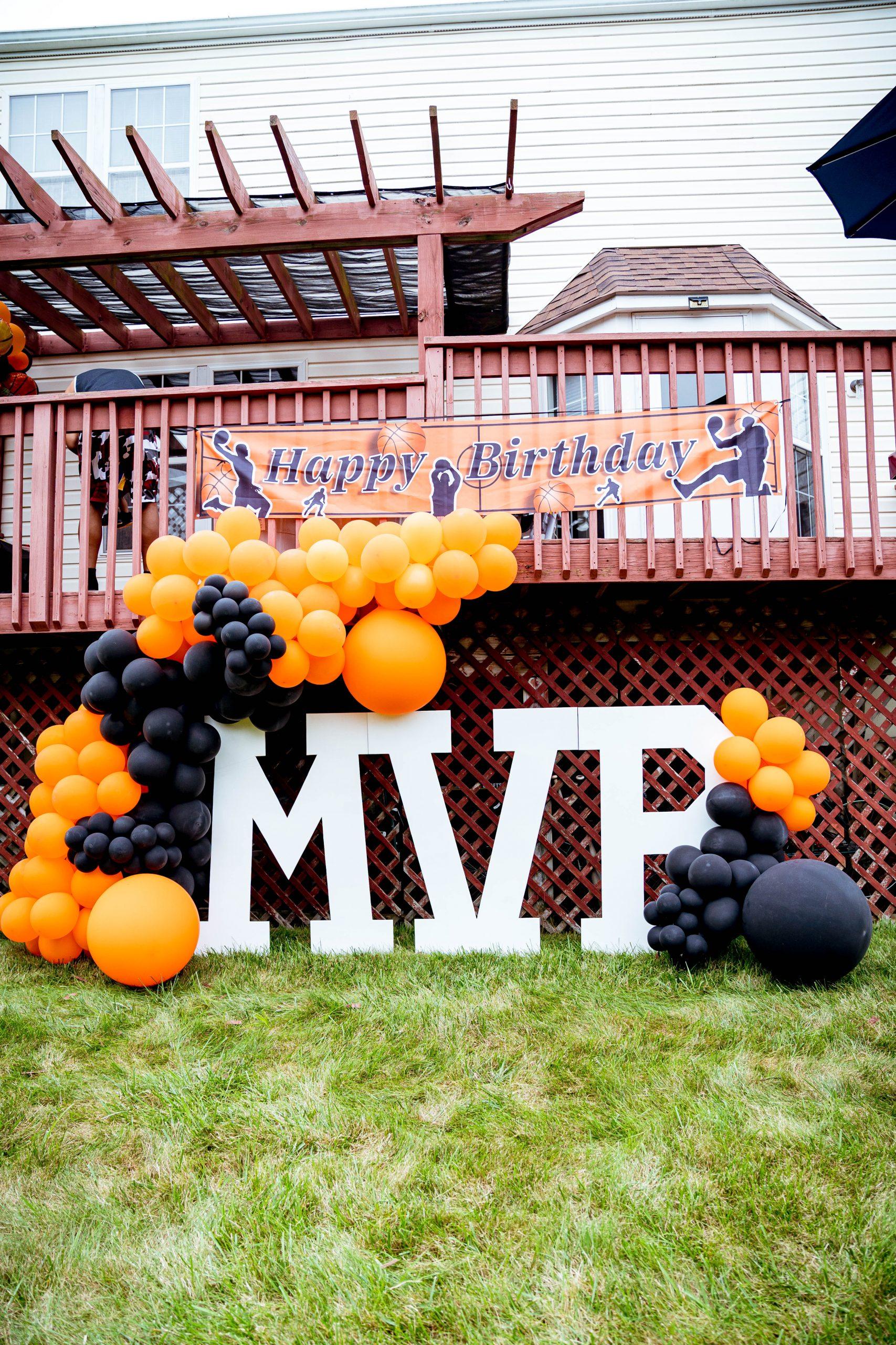 livinglesh mvp letters basketball birthday party