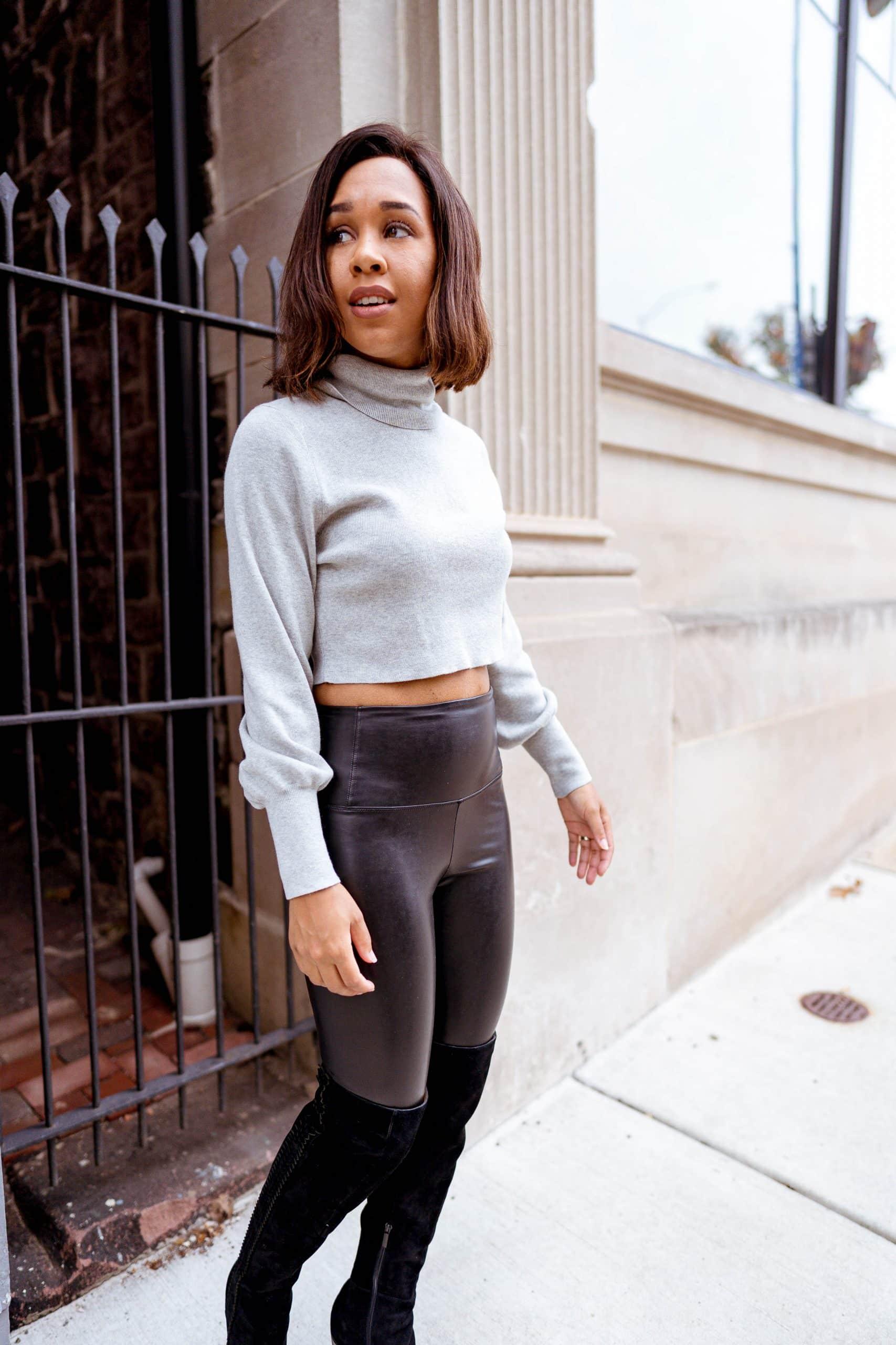 livinglesh aritizia faux leather leggings