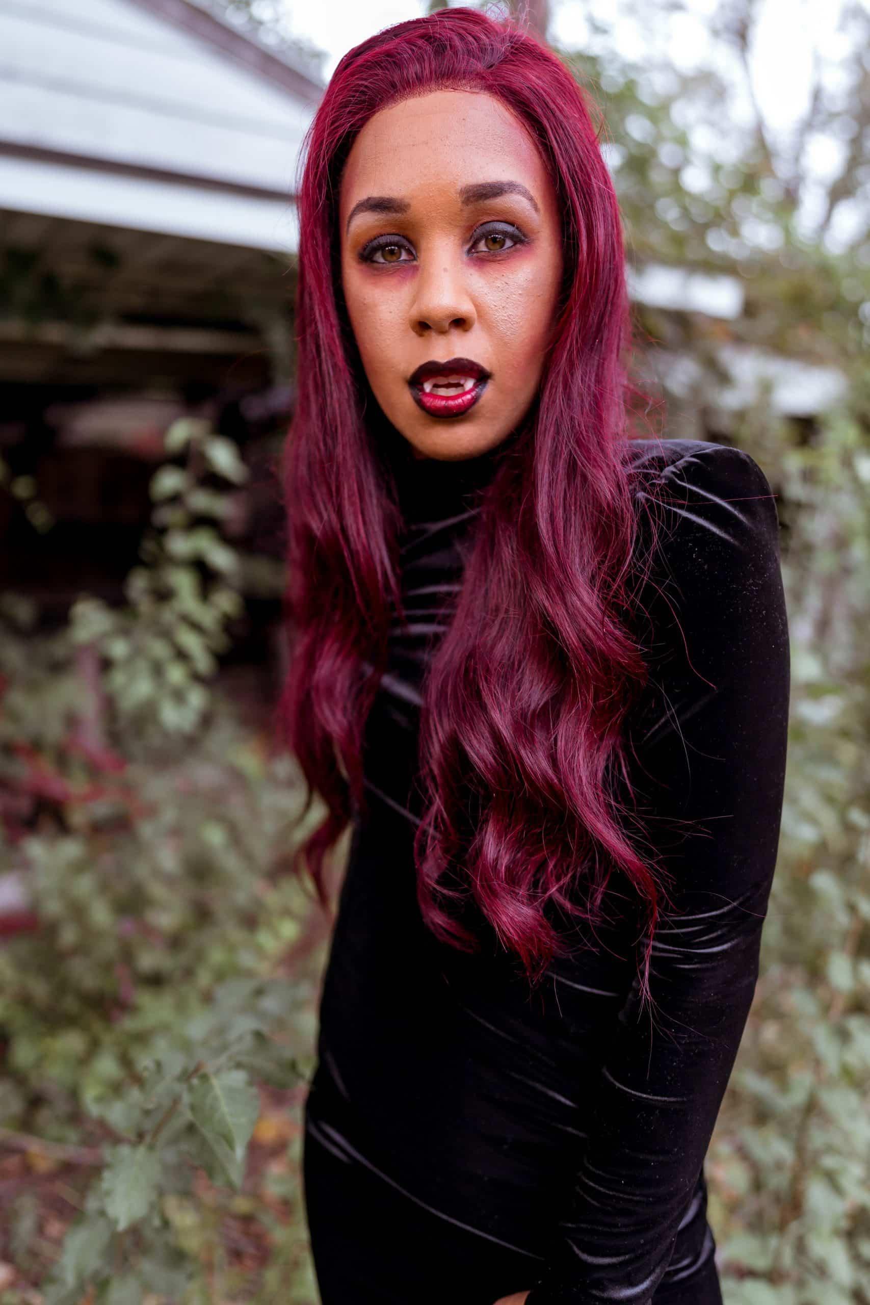 livinglesh dark skin vampire costume