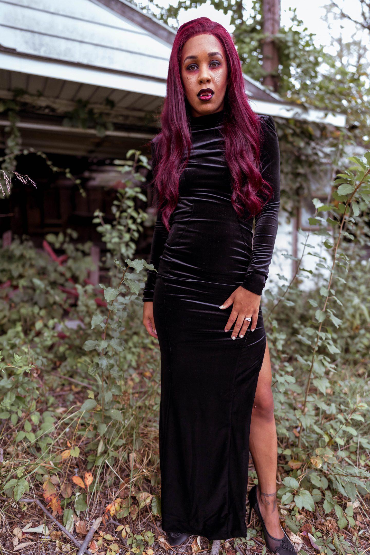 livinglesh fashion vampire halloween costume