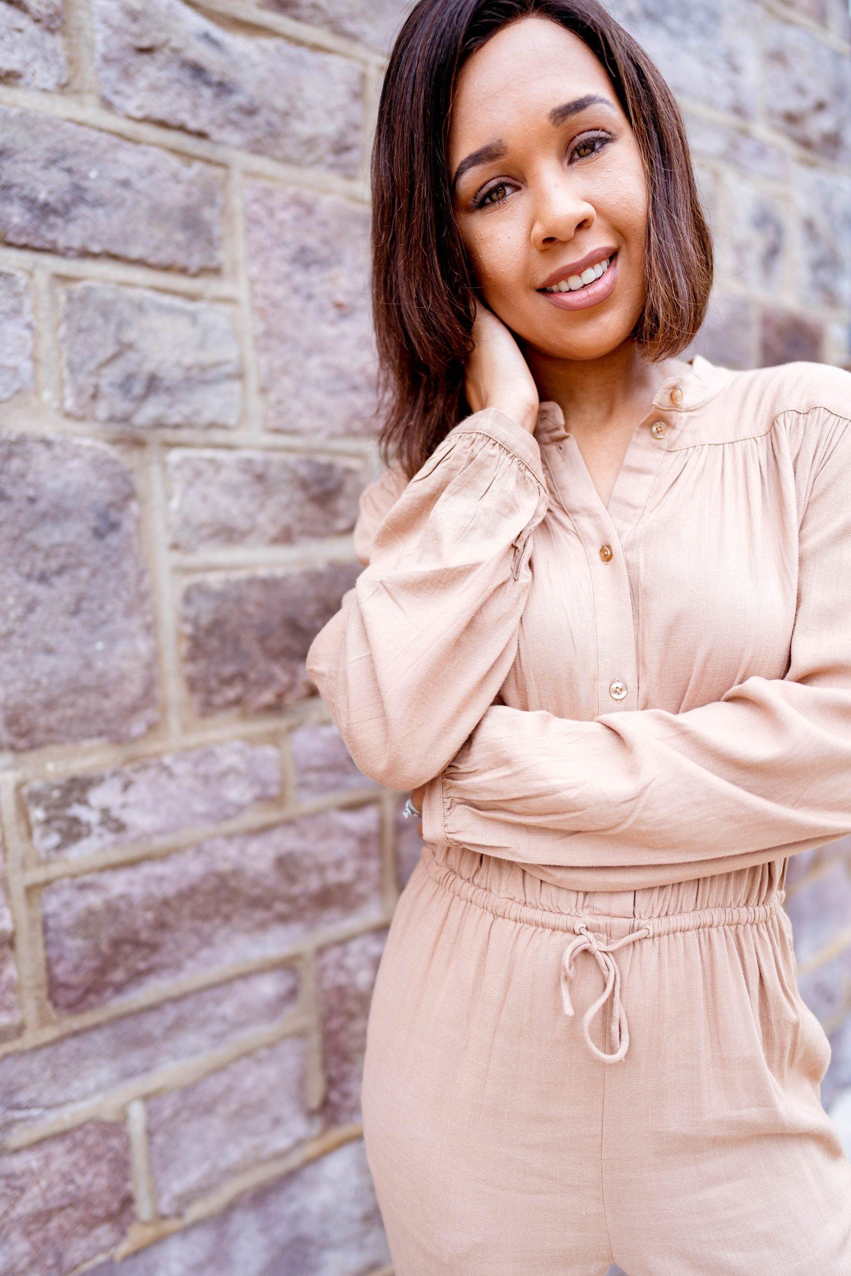 livinglesh jumpsuit in brown