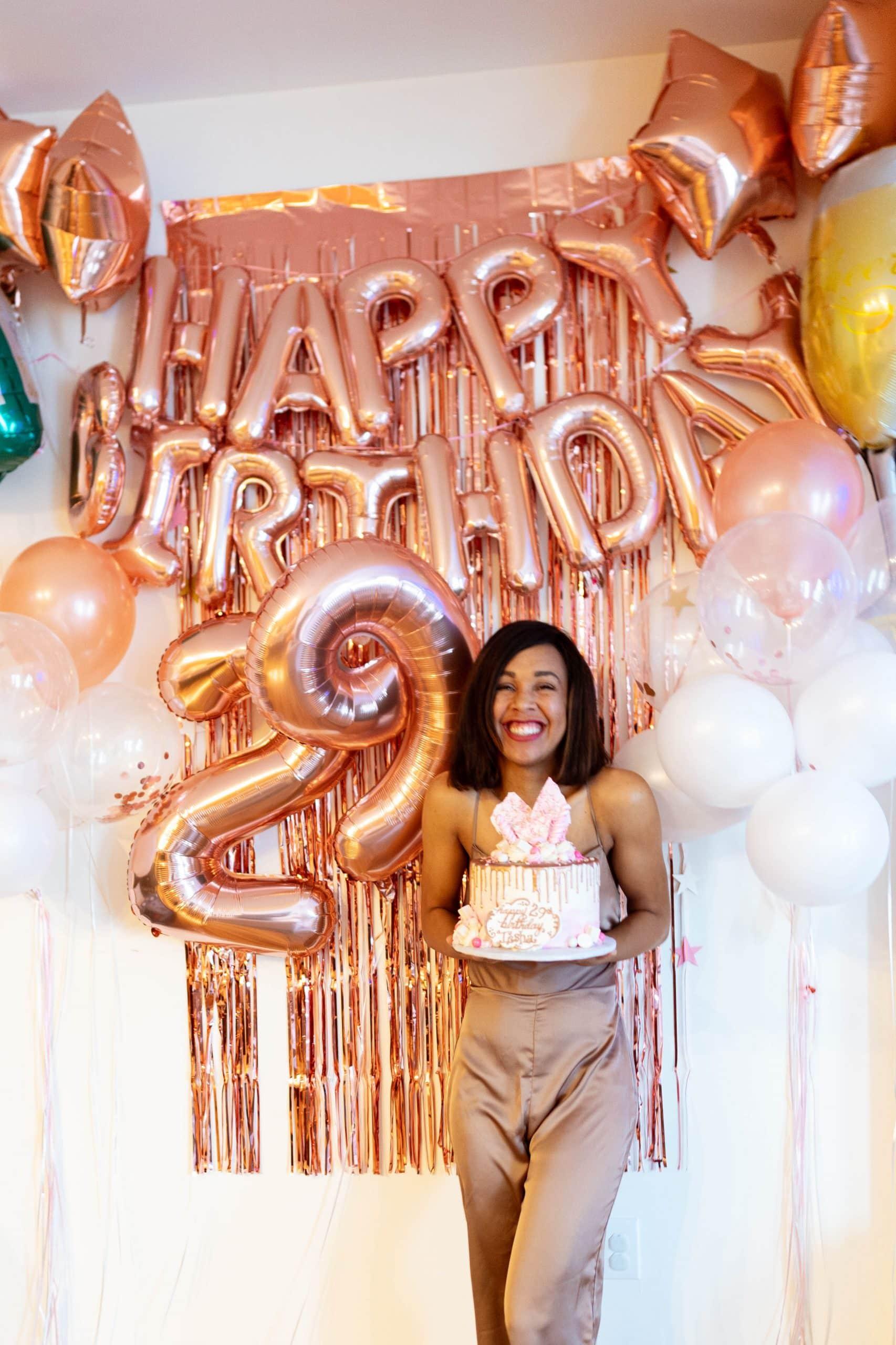 livinglesh celebrating birthday at home