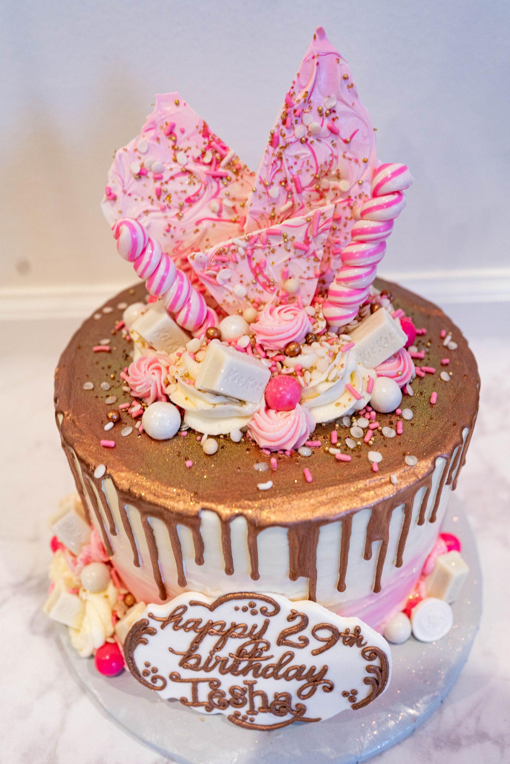 livinglesh gold drip birthday cake