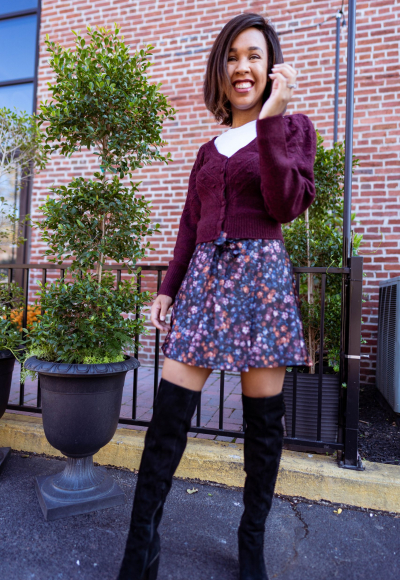 How to Style a Skirt in the Cold Weather