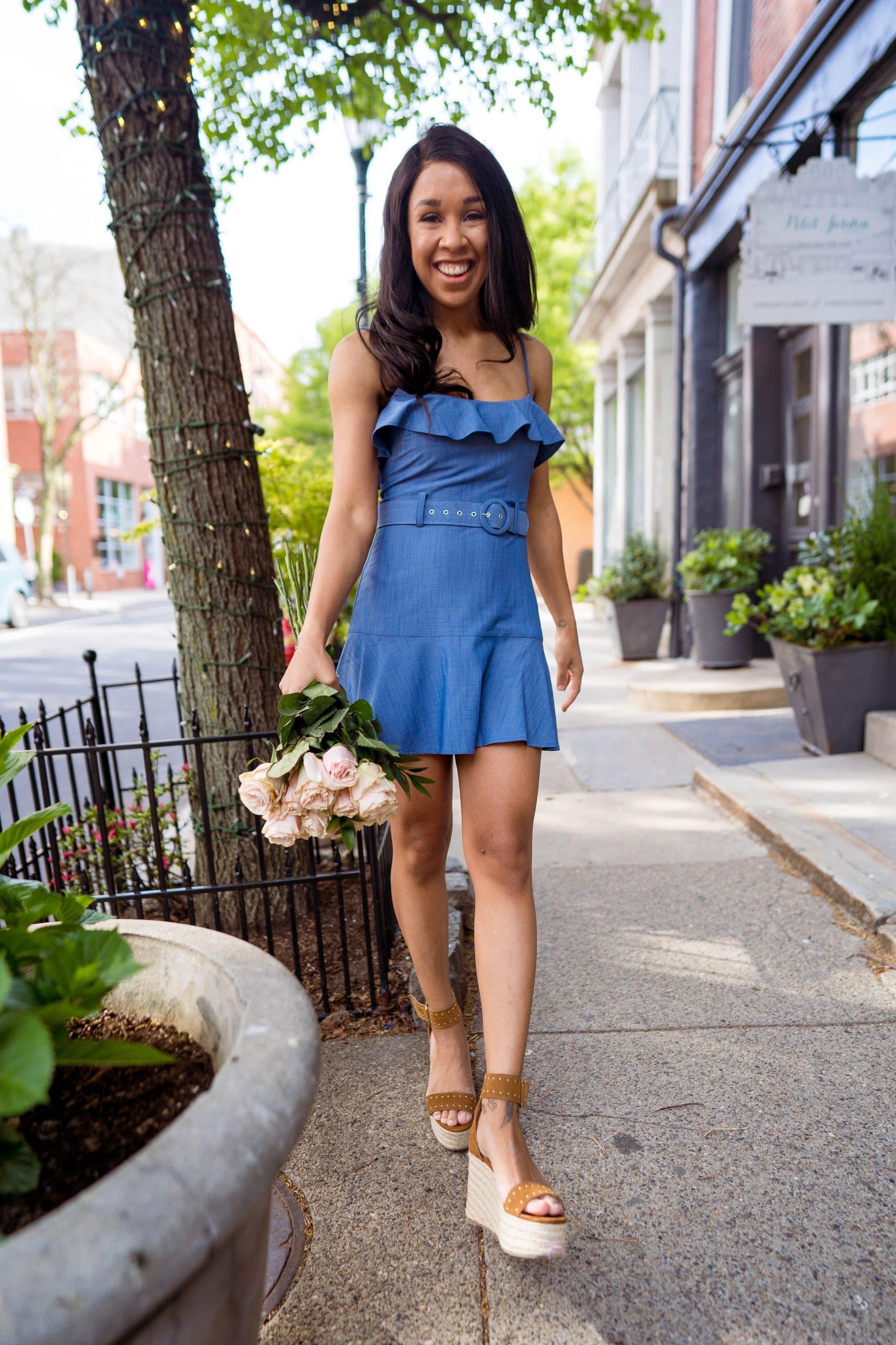 livinglesh chambray dress trend