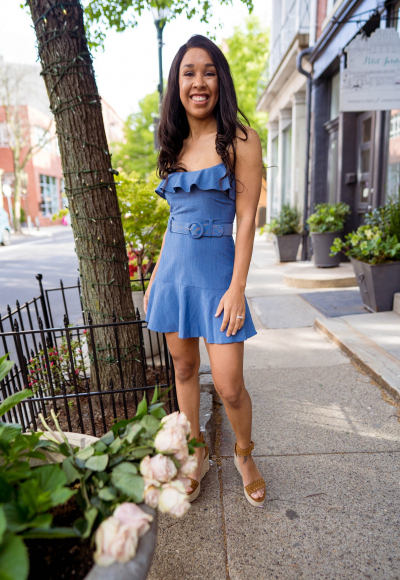 How to Wear a Chambray Dress