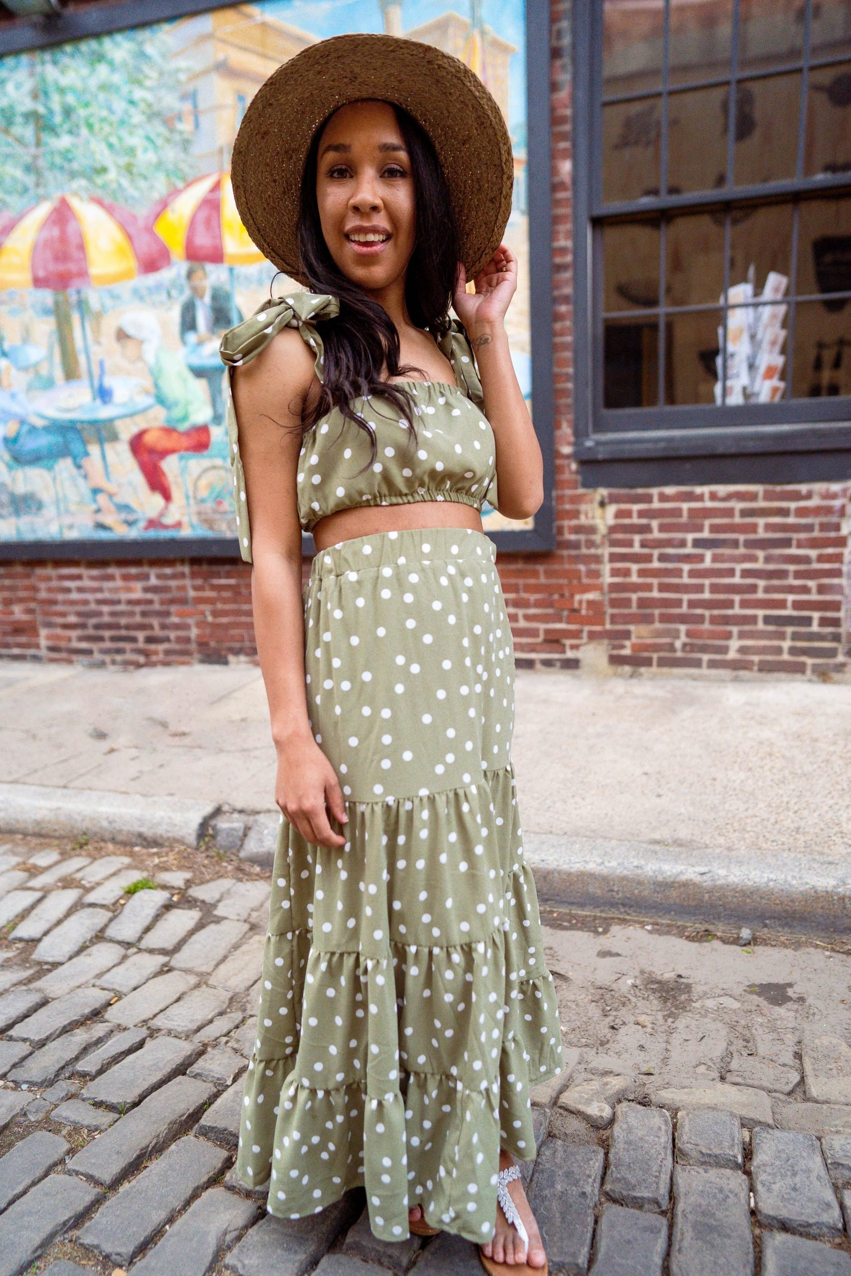 livinglesh two piece maxi dress for petite