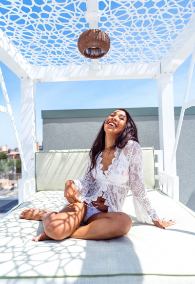 What to Wear to the Rooftop Pool in the City
