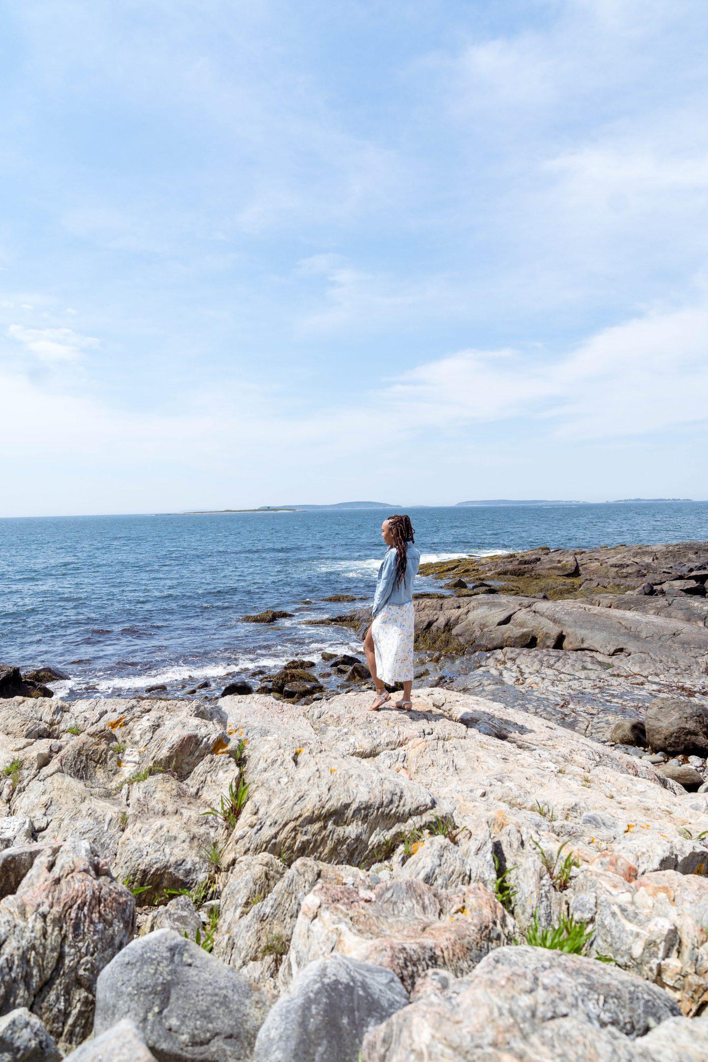 livinglesh sea coast at marshall point lighthouse