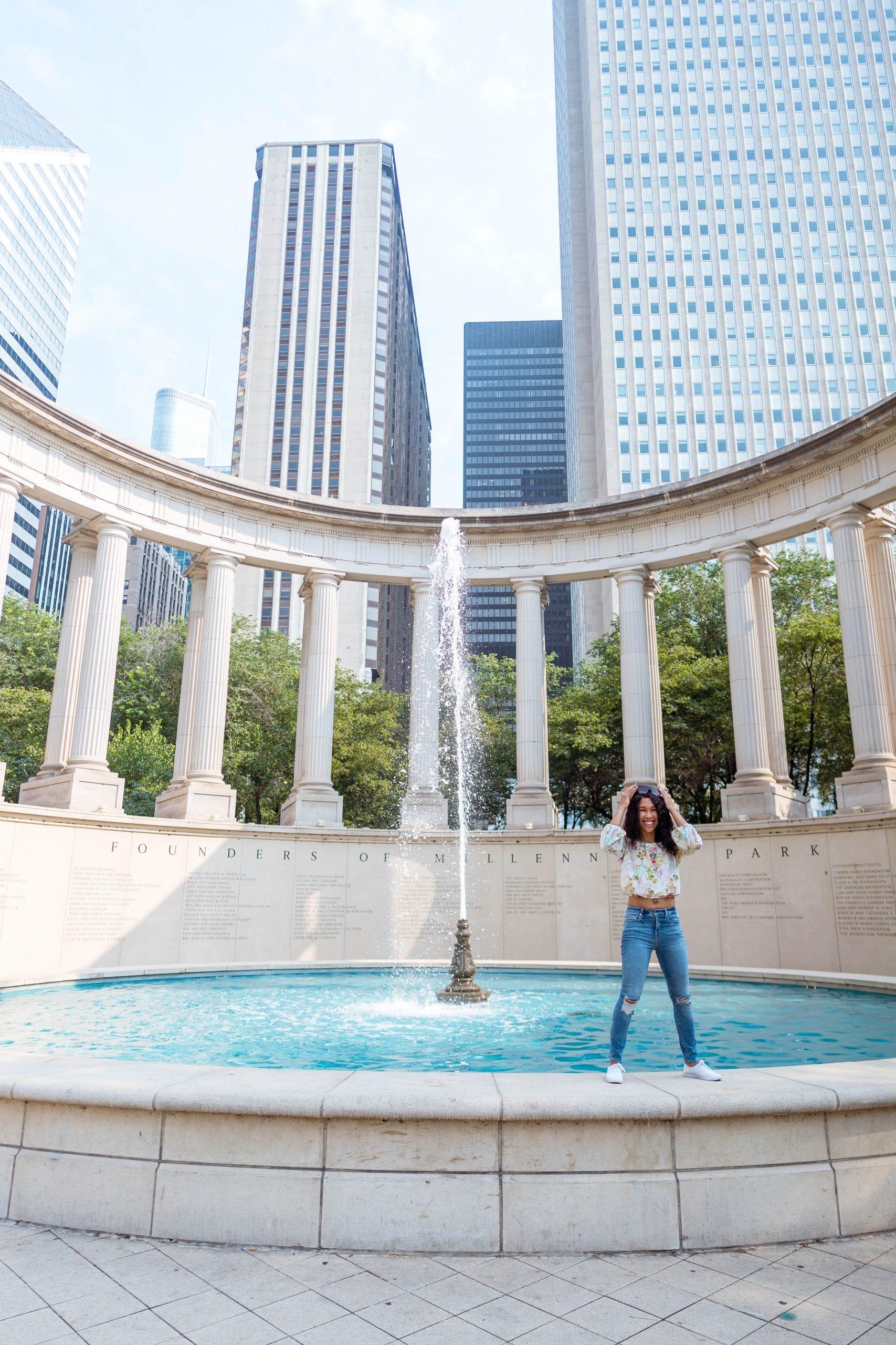 livinglesh millenium park fountain
