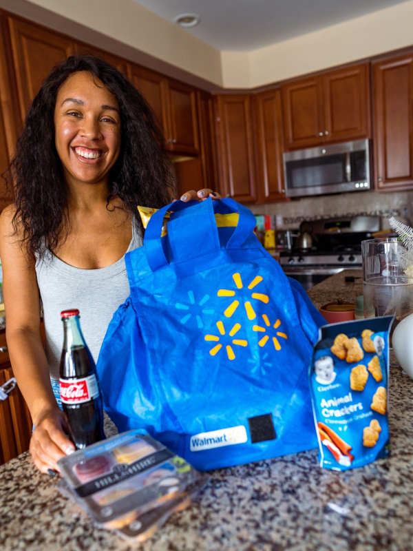 Stocking Up on Groceries with Walmart+