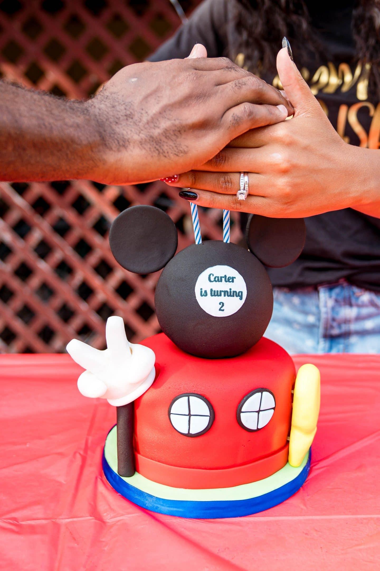 livinglesh mickey mouse birthday cake