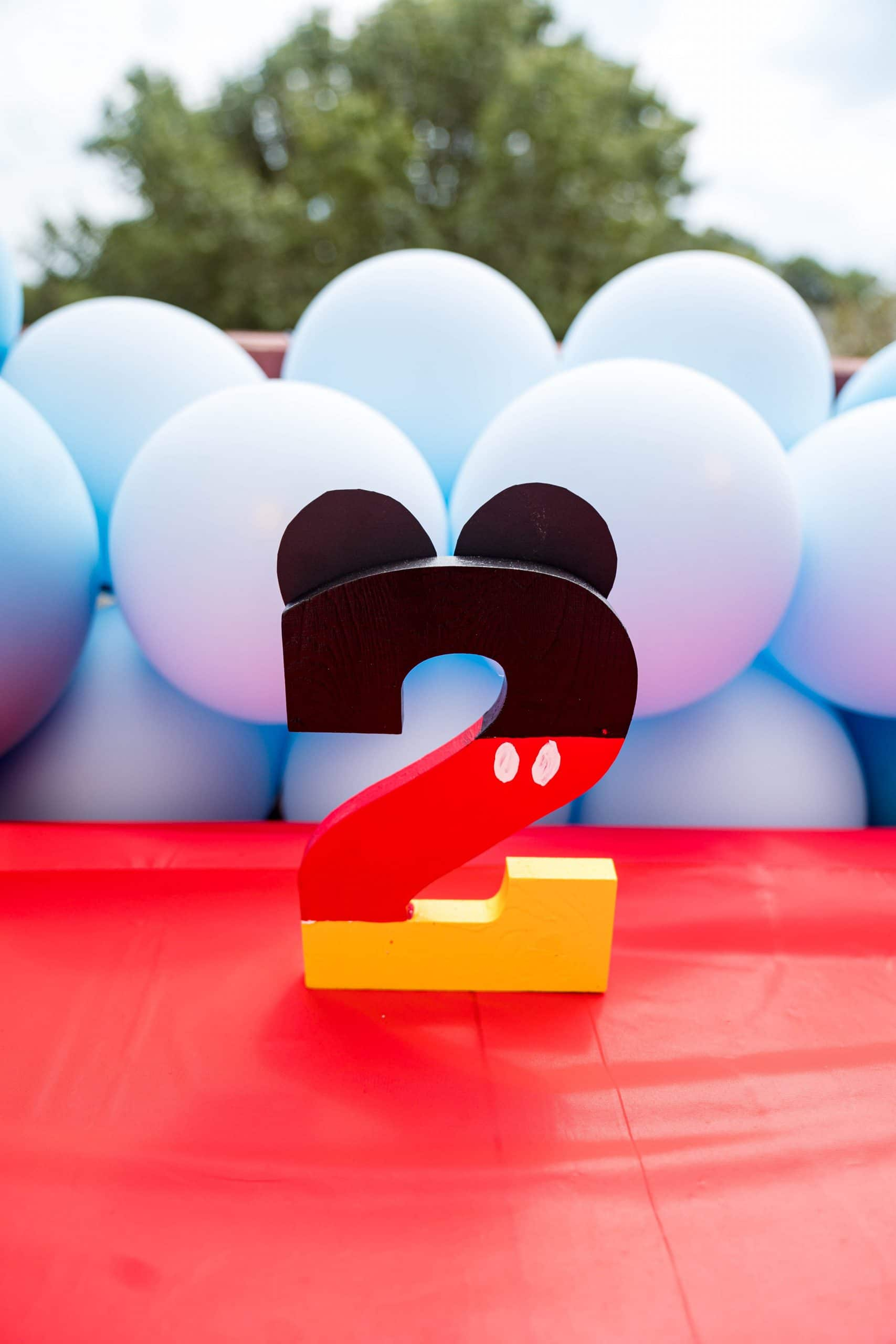 livinglesh mickey mouse clubhouse 2nd birthday party decoration