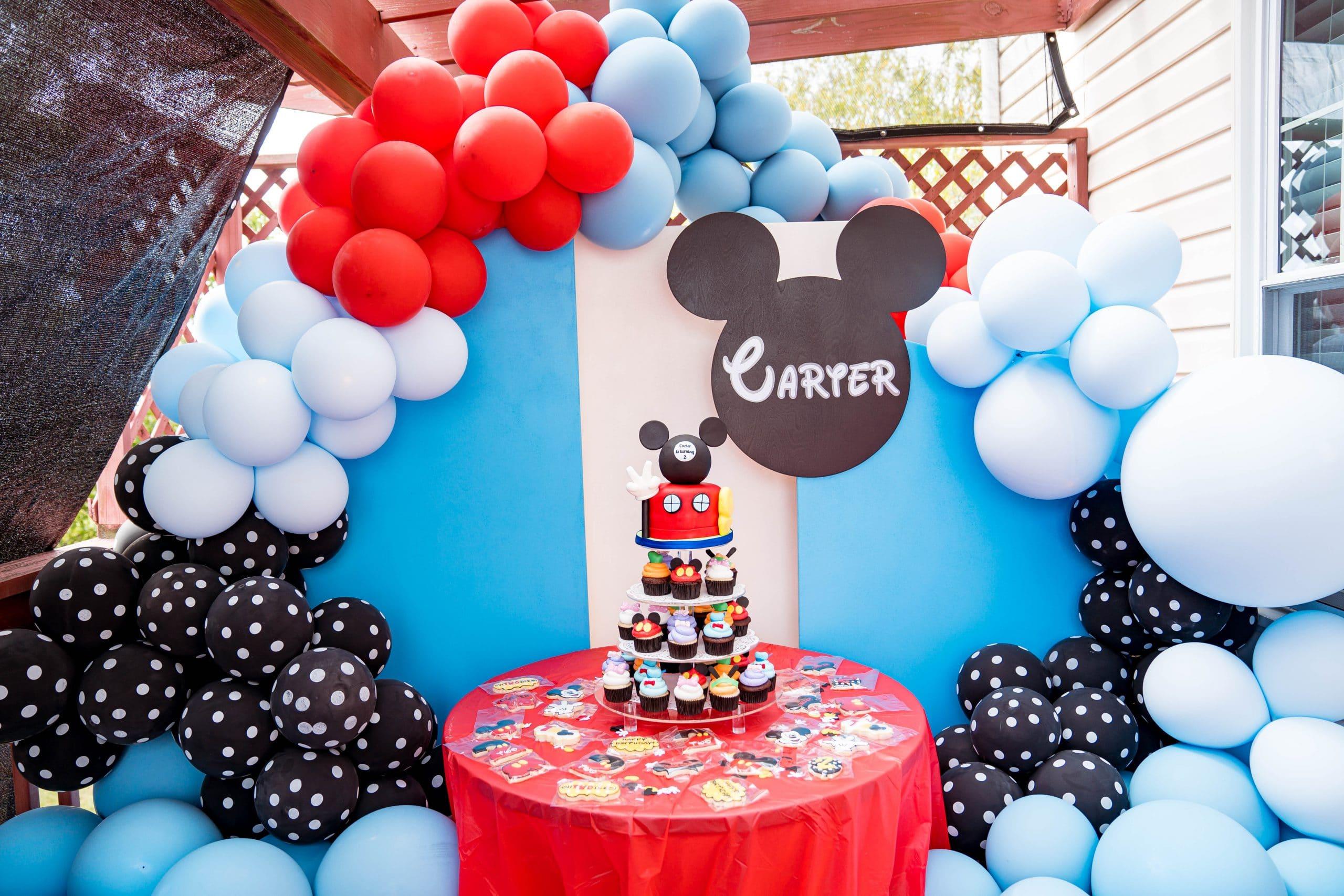 livinglesh slaydisplays mickey mouse clubhouse birthday party display