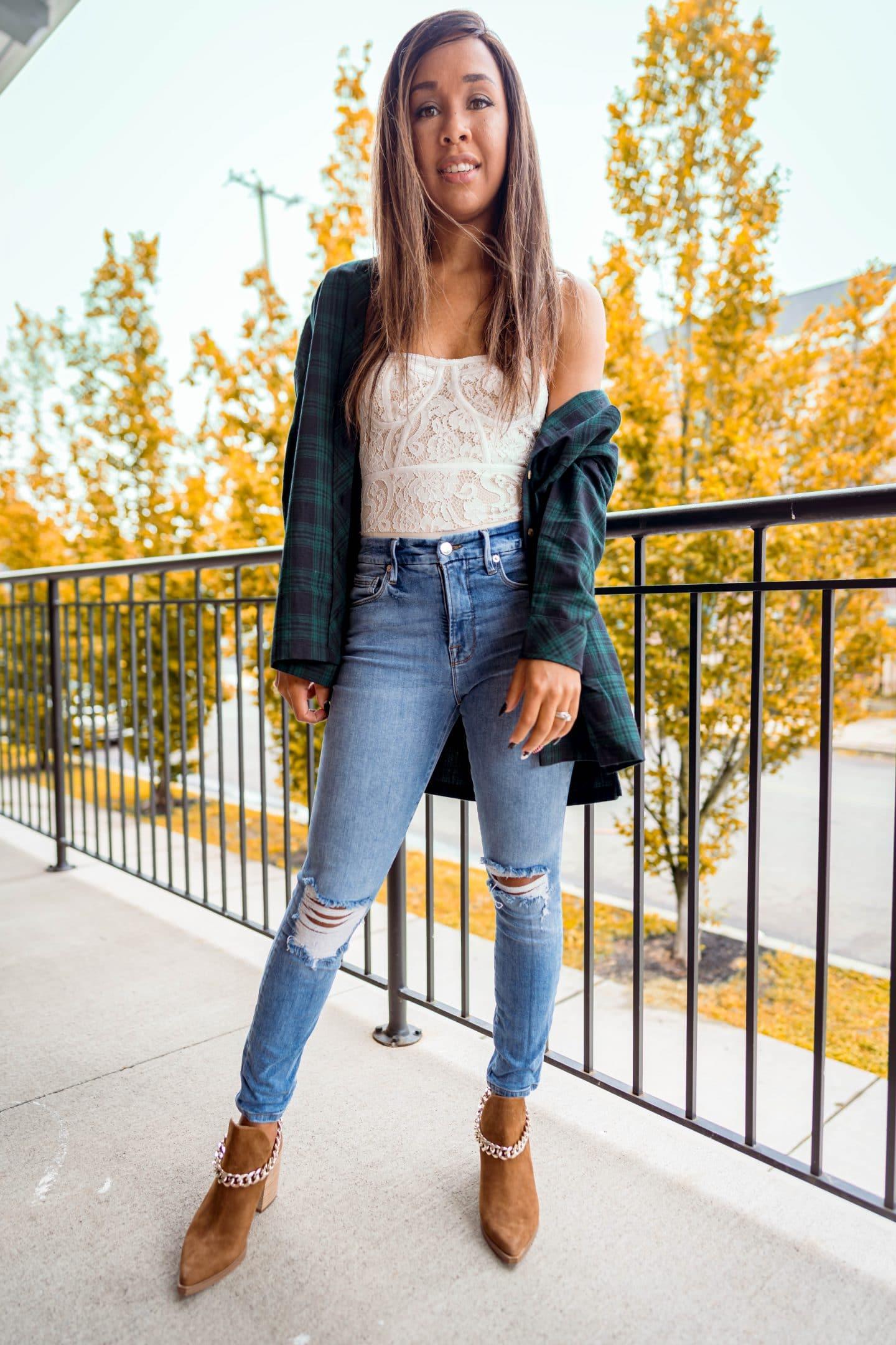 livinglesh oversized flannel top