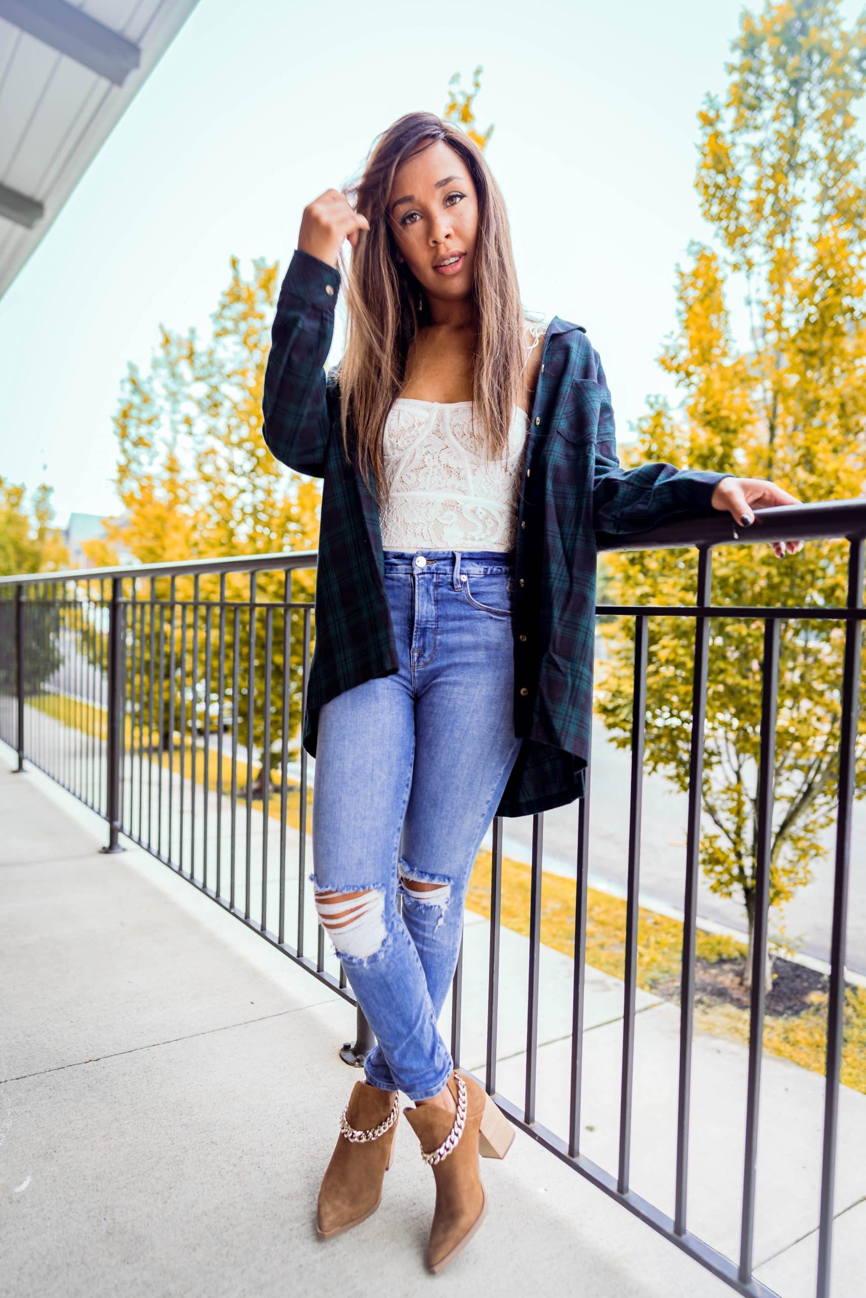 livinglesh style an oversized flannel